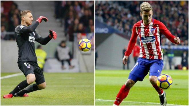 Jan Oblak and Antoine Griezmann