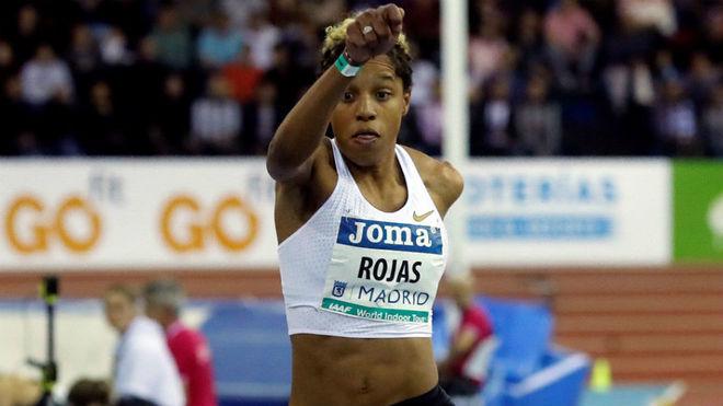 Yulimar Rojas, durante el triple en Madrid