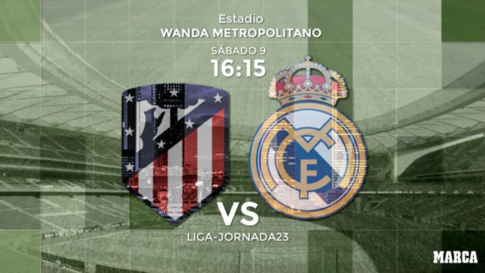 Atlético de Madrid - Real Madrid: horario y dónde ver hoy en directo...