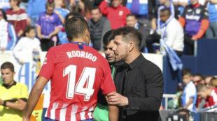 Rodrigo habla con Simeone.