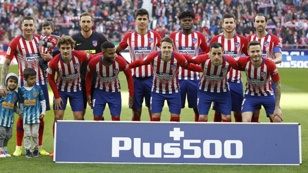 Alineación del Atlético de Madrid en el Metropolitano ante el Getafe