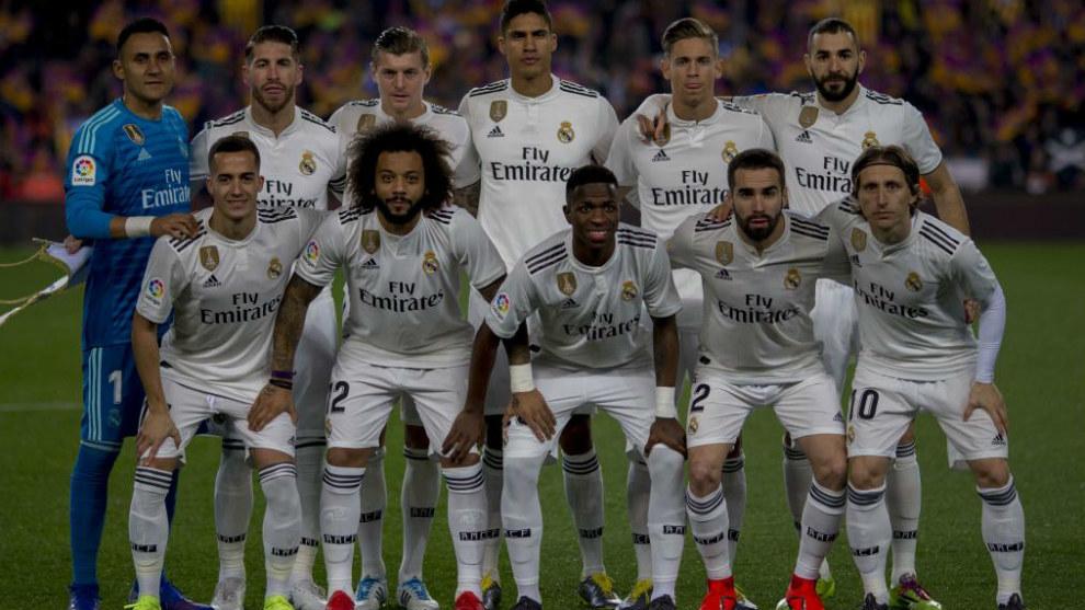 Once del Real Madrid en su último partido, ante el Barcelona