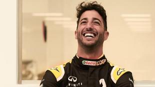 Daniel Ricciardo, con la equipación de Renault.