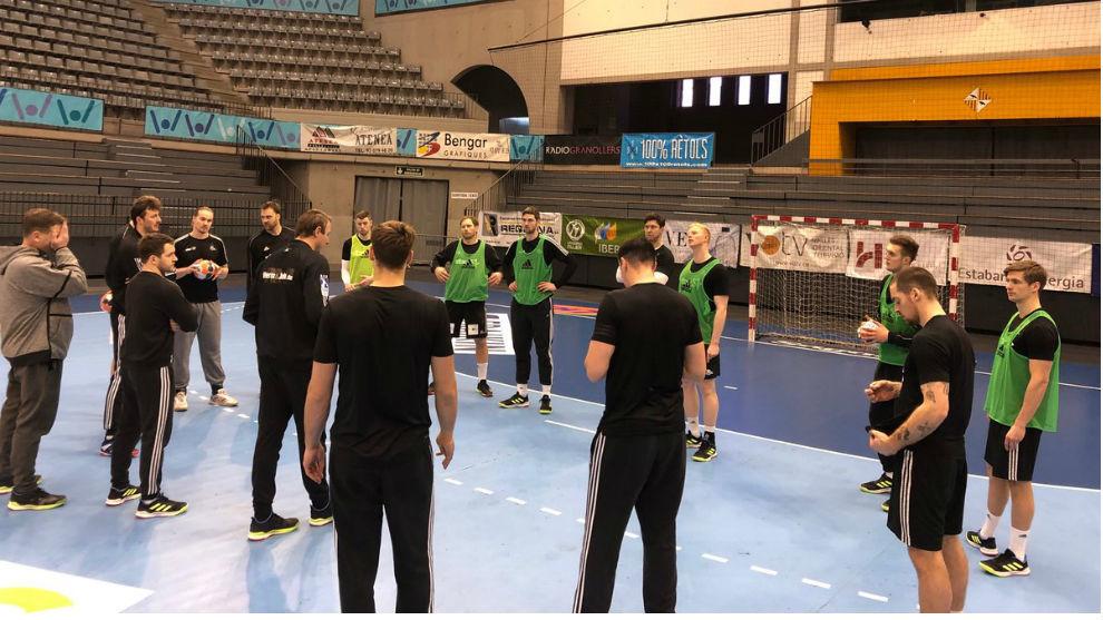 El Kiel, entrenándose en el Palua d'Esports de Granollers.