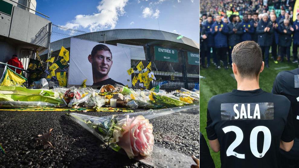Homenaje a Sala en el Nantes 2-4 Nimes.