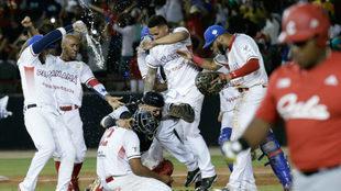Momento de festejo de la novena panameña.