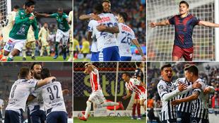 León, Pachuca, Cihvas, Rayados, Necaxa y Puebla marcaron más de dos...