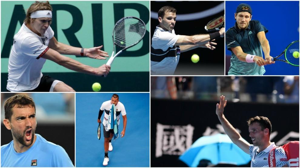 Algunos de los tenistas que se borraron de Rotterdam