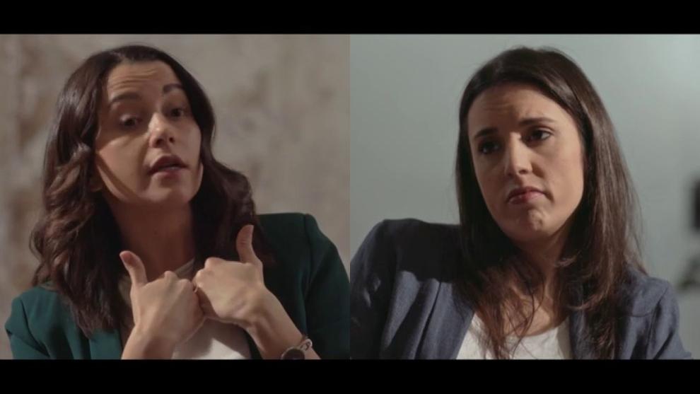 Inés Arrimadas (izquierda) e Irene Montero (derecha) en 'Salvados'