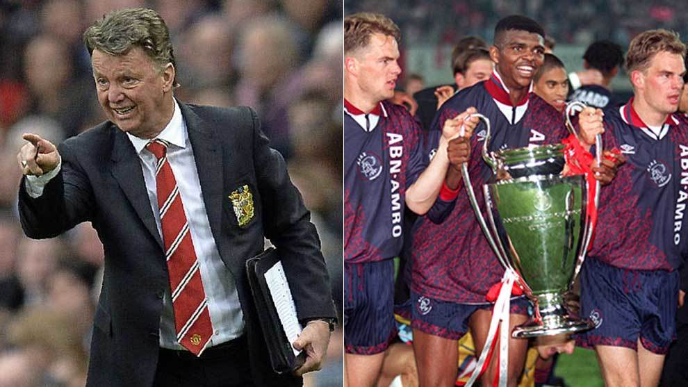 Van Gaal and the 1995 Champions League winners.