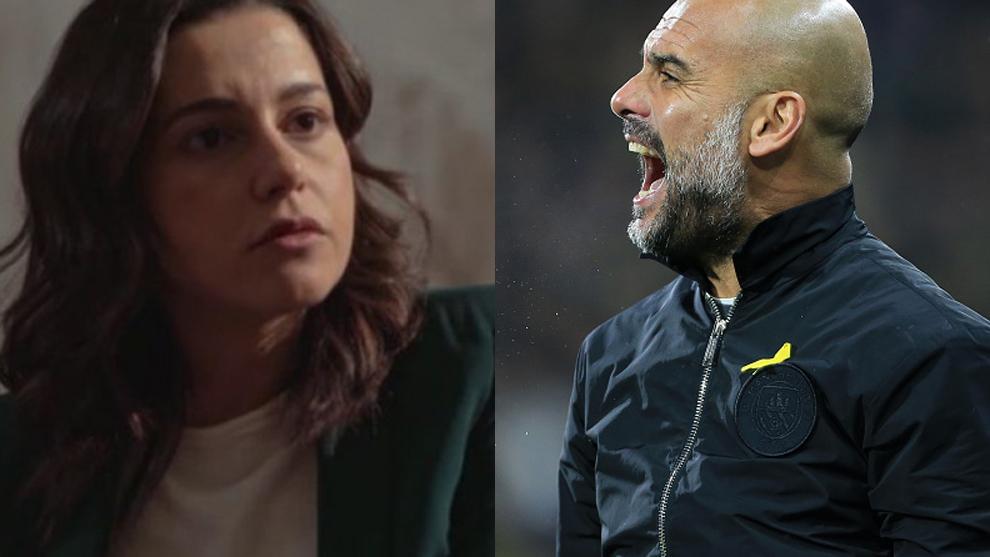 Inés Arrimadas y Pep Guardiola