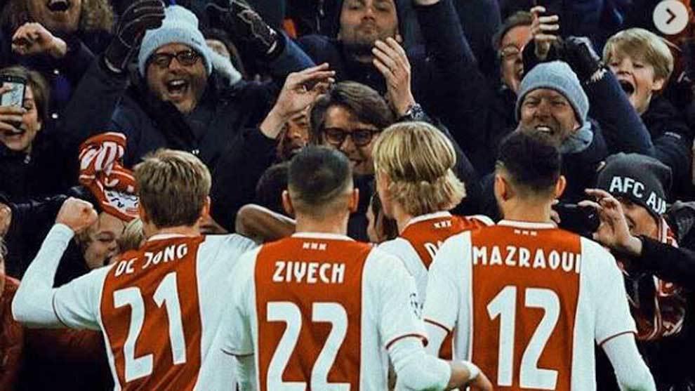 Ajax's side.
