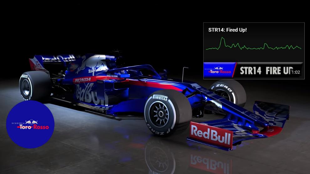 Toro Rosso STR14, muy parecido a su hermano mayor el Red Bull