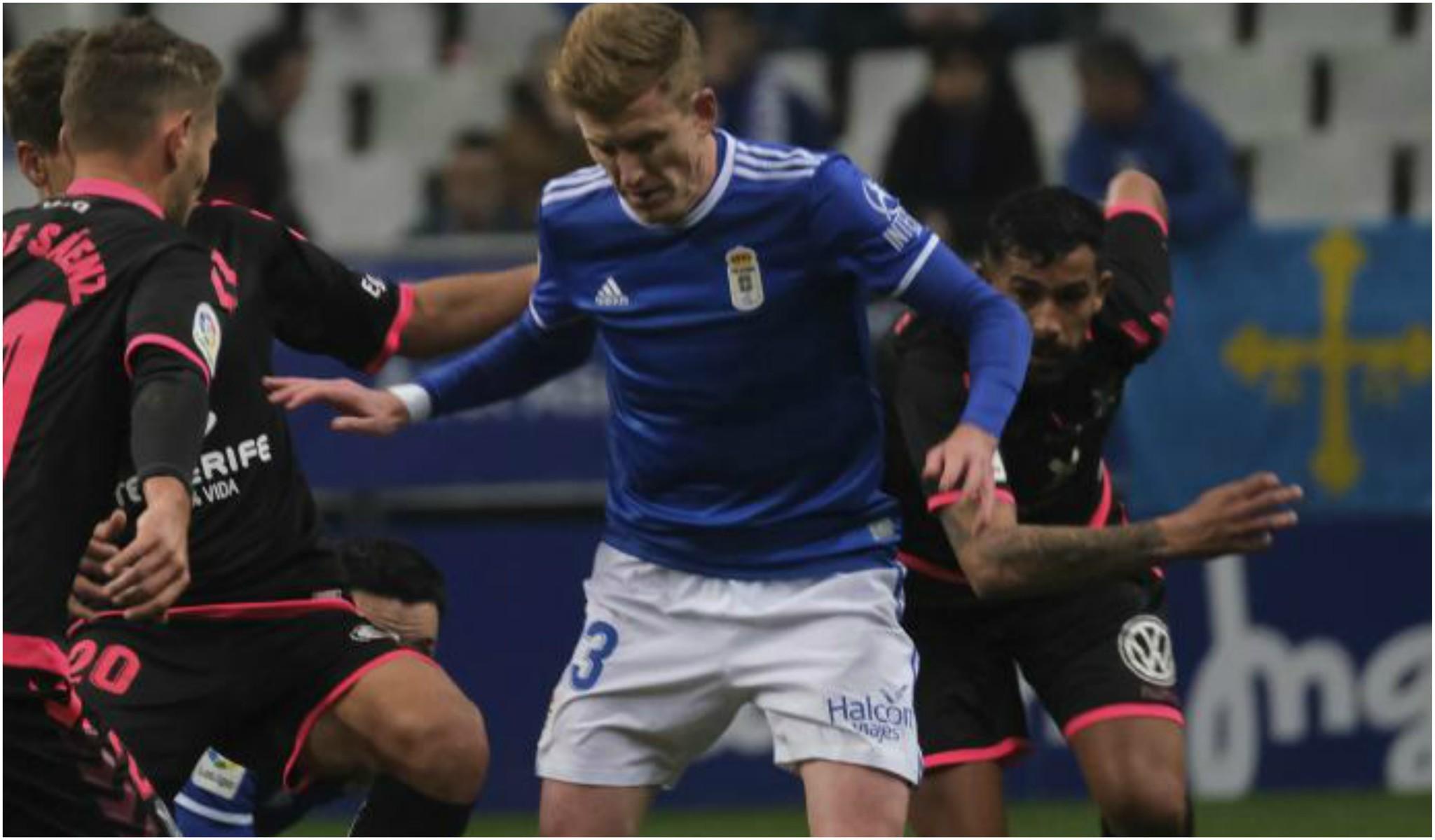 Mossa, en un partido con el Oviedo