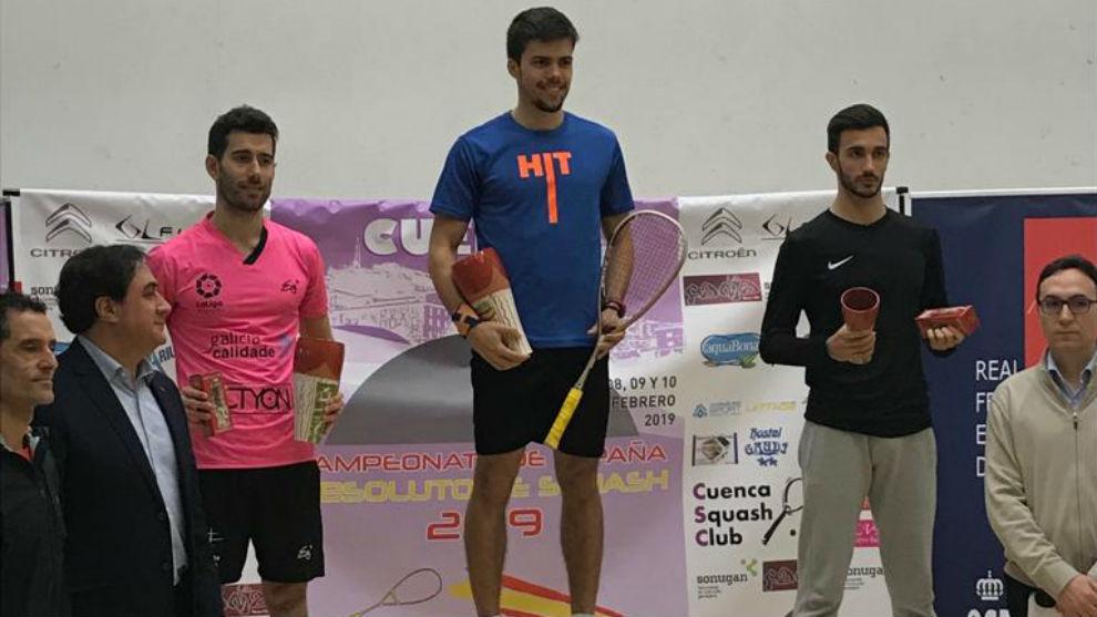 Podio masculino del Campeonato de España 2019.