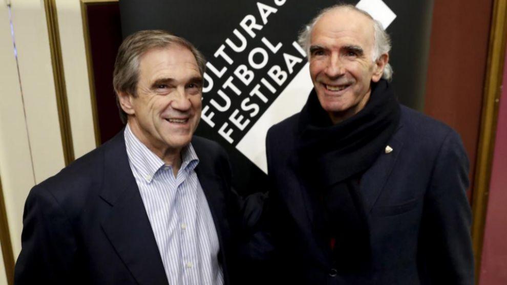 Iribar y Arconada, durante un reciente encuentro en el Festival...