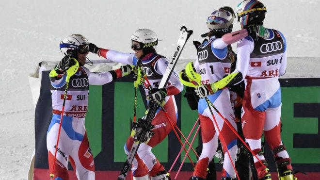 Suiza celebra su victoria.