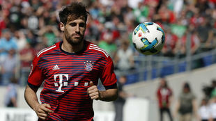 Javi Martínez, antes de un partido con el Bayern.