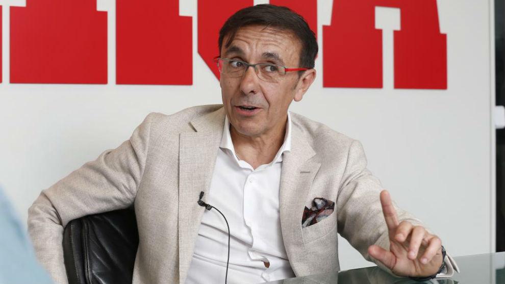José Hidalgo, presidente de la Asociación del Deporte Español, en...