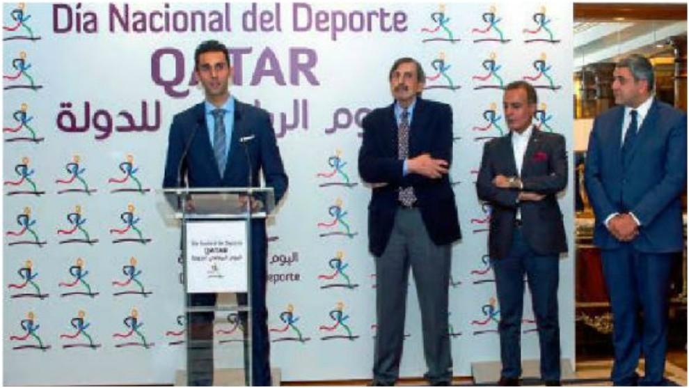 Arbeloa, durante la celebración del 'Día Nacional del Deporte' de...
