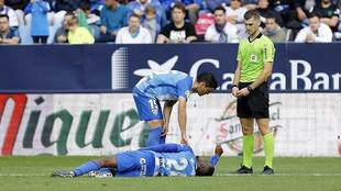 Ricca atiende a Koné tras caer lesionado frente al Nástic en La...