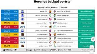 Los partidos televisados por LaLigaSportsTV