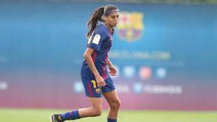 Andressa Alves, en un partido con el Barcelona.