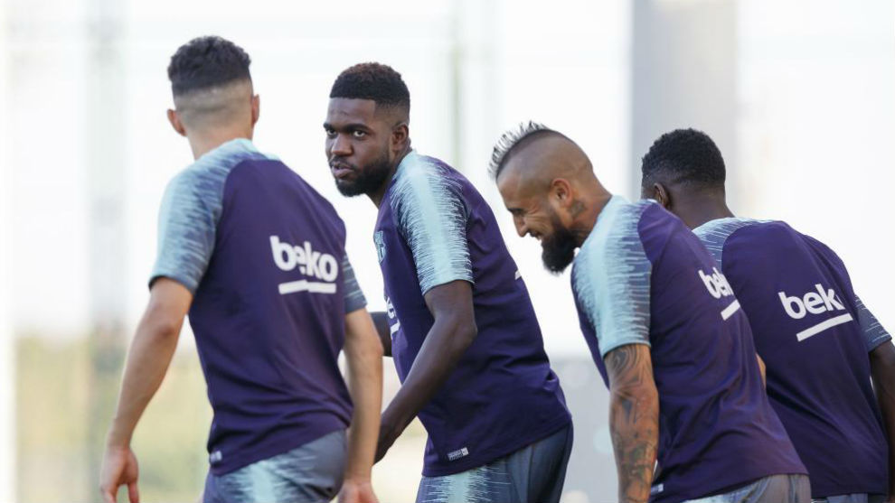 Umtiti entrena con el grupo y podría volver ante el Valladolid