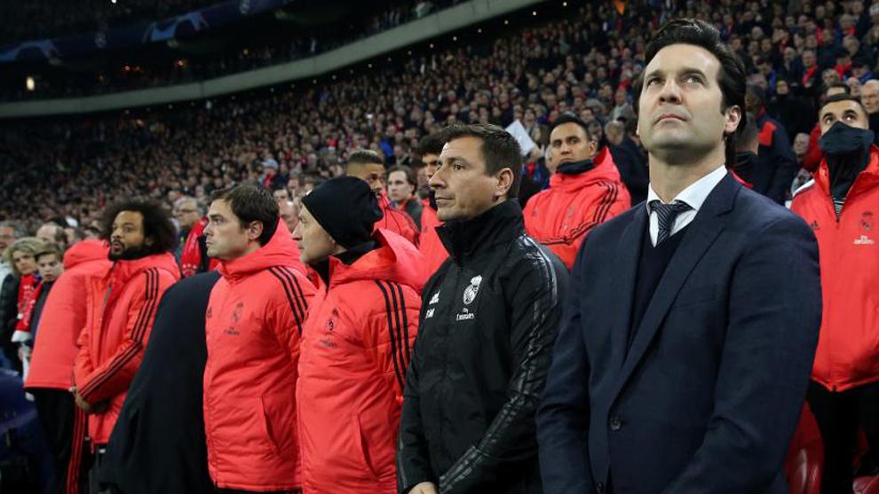 Solari, antes del partido contra el Ajax