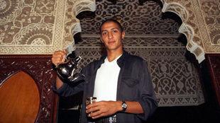 Abdellaoui, exjugador del Rayo Vallecano, durante un reportaje para...
