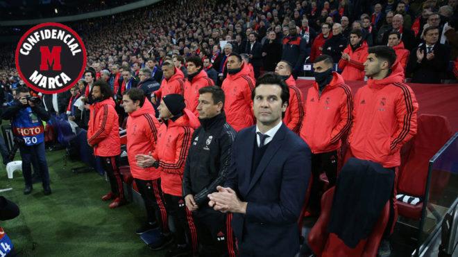 Solari, antes del partido contra el Ajax.