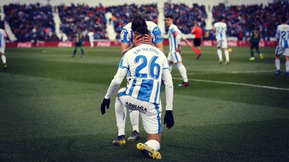 En-Nesyri se ha convertido en el primer jugador que marca un hat-trick...