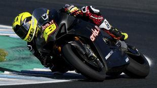Álvaro Bautista, con su Ducati en Superbike.