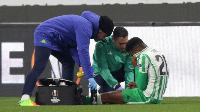 Junior volvió a caer lesionado en el partido de Europa League ante el...
