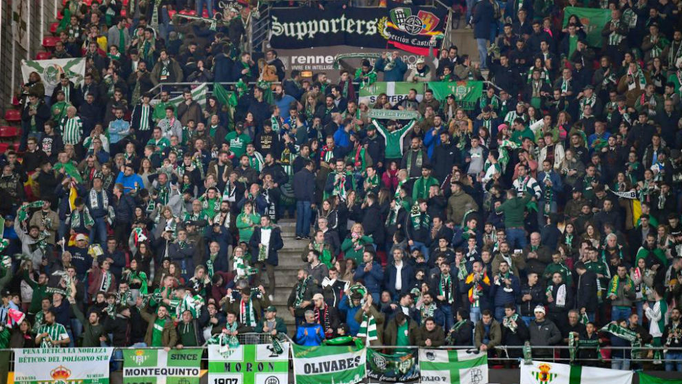 Betis hard a large following in Rennes.