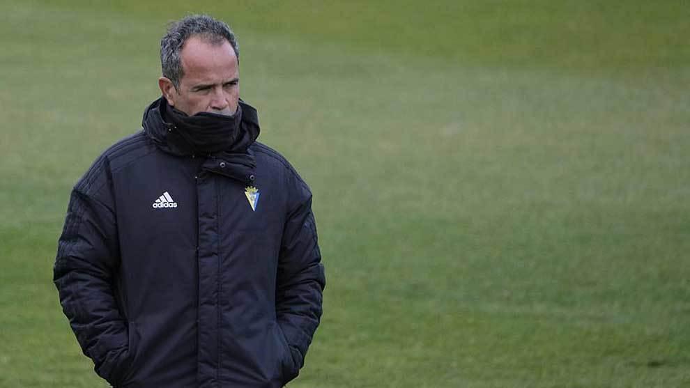 Álvaro Cervera, durante un entrenamiento reciente en Cádiz
