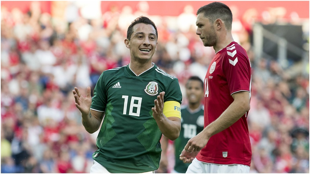 Guardado, en un partido con la selección mexicana.