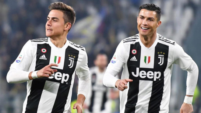 Dybala and Cristiano celebrate Argentine's stunner