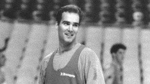 Danny Ferry durante su etapa de jugador en Roma