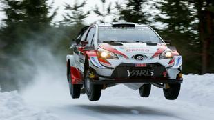 El estonio, volando con el Yaris WRC.