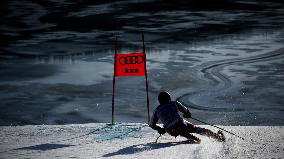 Hirscher, durante el Gigante del  Mundial de Are.