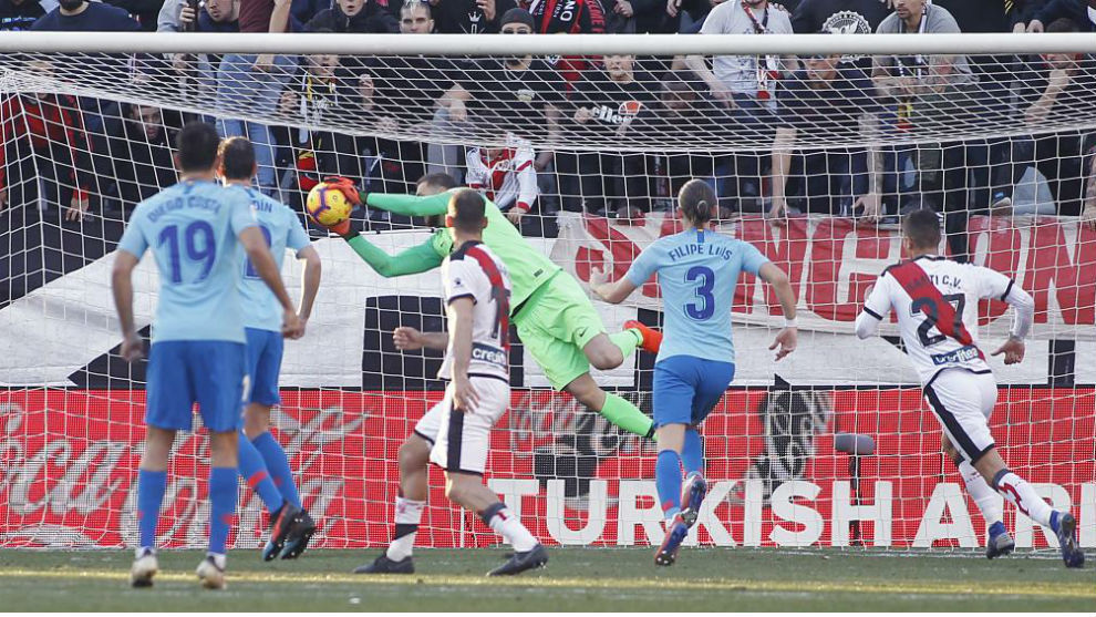 Oblak was on top form against Rayo.