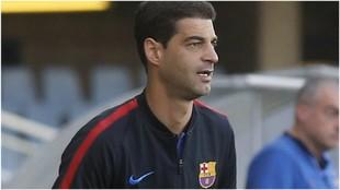 Gerard López, como entrenador del filial del Barcelona la pasada...