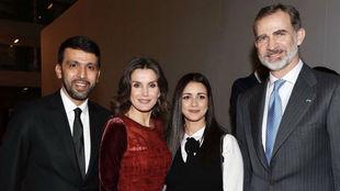 El Guerrouj y su esposa, junto a Sus Majestades los Reyes de España...