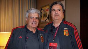 Pedro Rocha, presidente del CNFS, y Arsenio Pascual, exseleccionador...