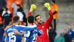 Diego López, tras el empate contra el Valencia.