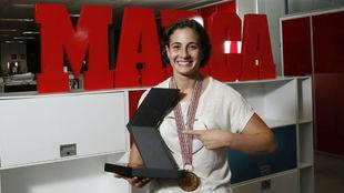 Ana Carrasco, durante una visita a la redacción de MARCA.