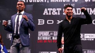 Errolo Spence y Mikey García en conferencia de prensa.