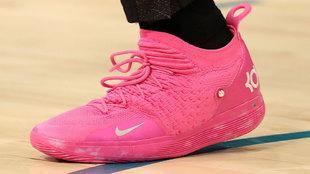 Detalle de la zapatilla de Durant