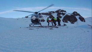 Rescate en el Pico del Caballo a cargo de Agentes de Montaña de la...